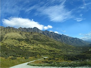 Photo of the Remarkables mountain range in Queenstown, New Zealand.