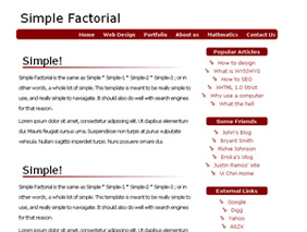 HTML template — SimpleFactorial