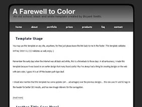 HTML template — afarewelltocolor