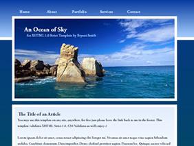 HTML template — anoceanofsky