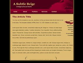 HTML template — asubtlebeige