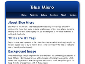 HTML template — bluemicro