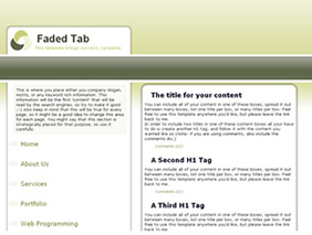 HTML template — fadedtab