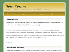 simple php page template - simple website templates