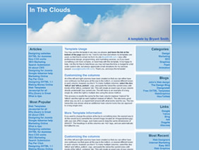 HTML template — intheclouds