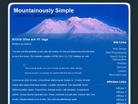 HTML template — mountainouslysimple