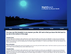 HTML template — nightbeach