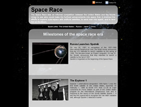 HTML template — spacerace