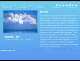 HTML template — transparentblue