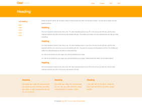Fixed width template, orange